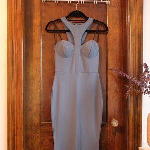 Hi Neck Level Vintage Dress
